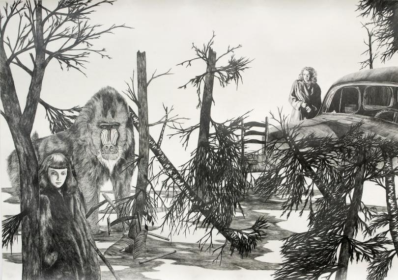 Zeichnung von Uta Siebert - Oase