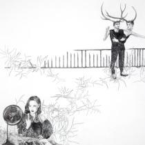 """Zeichnung """"Zaungast"""" von Uta Siebert"""