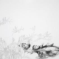 """Zeichnung """"Freischwimmer"""" von Uta Siebert"""