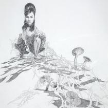 """Zeichnung """"Anhöhe"""" von Uta Siebert"""