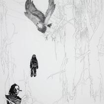 """Zeichnung """"Ausflug"""" von Uta Siebert"""