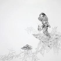 """Zeichnung """"Buckelpiste"""" von Uta Siebert"""