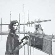 """Zeichnung """"Schall"""" von Uta Siebert"""