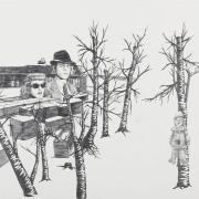 """Zeichnung """"Zwölf"""" von Uta Siebert"""