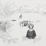 """Zeichnung """"Wilderer"""" von Uta Siebert"""