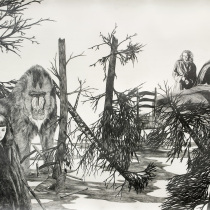 Zeichnung Oase