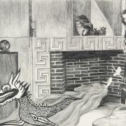 Zeichnung Drache (Peripherie)